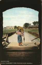 Native Girl going to Market through Postigo Gate