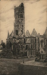 Church destroyed by shells