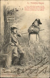 Premiere Chasse (First Hunt) Postcard