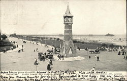 Skegness. Clock Tower and Parade.