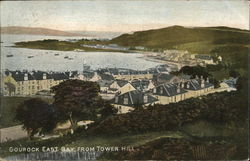 Gourock East from Tower Hill Postcard