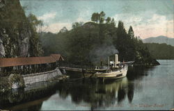 "Trossachs Lake (?) and S.S. ""Walter Scott"""
