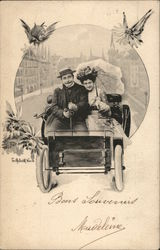 Couple in Early Automobile