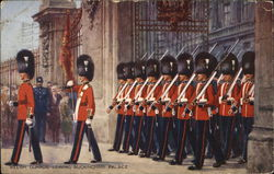 Welsh Guards leaving Buckingham Palace