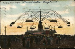 The Flying Machine Blackpool Postcard