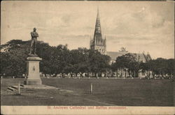 St. Andrews cathedral and Raffles Monument