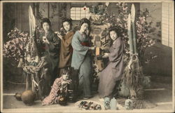 Group of Japanese Ladies, Hand Colored
