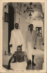 Priests at East Indian Temple, Trinidad, B.W.I.