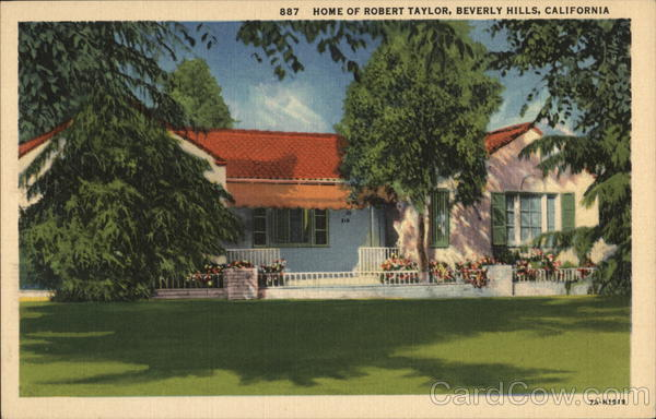 Home of Robert Taylor Beverly Hills California