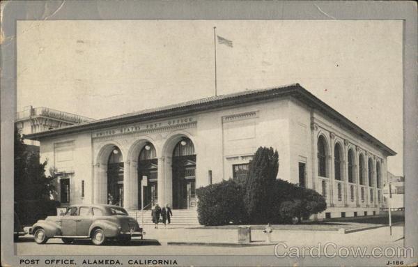 Post Office Alameda Ca Postcard