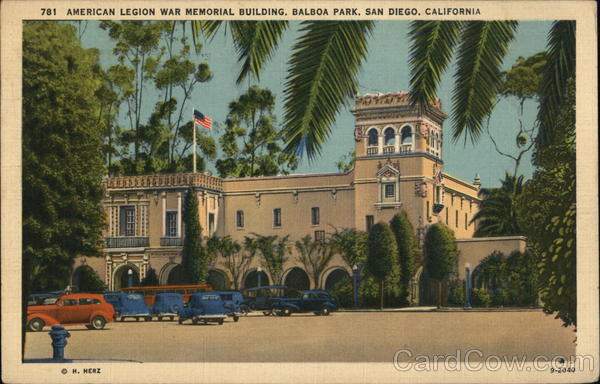 American Legion War Memorial Building at Balboa Park San Diego California