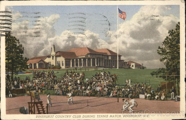 Pinehurst Country Club During Tennis Match North Carolina