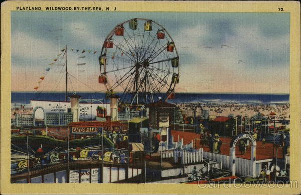 Playland - Ferris Wheel Wildwood-By-The-Sea New Jersey