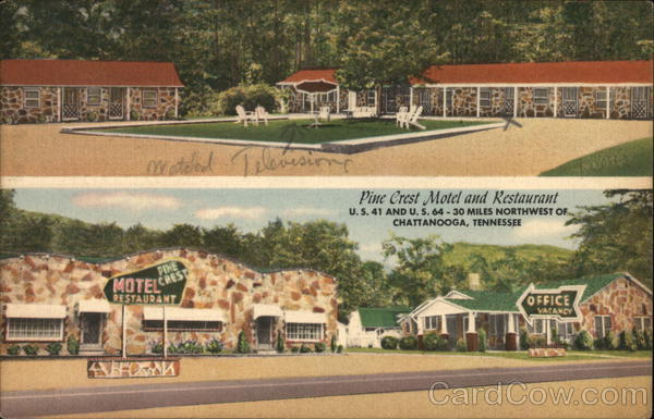 Pine Crest Motel and Restaurant Chattanooga Tennessee