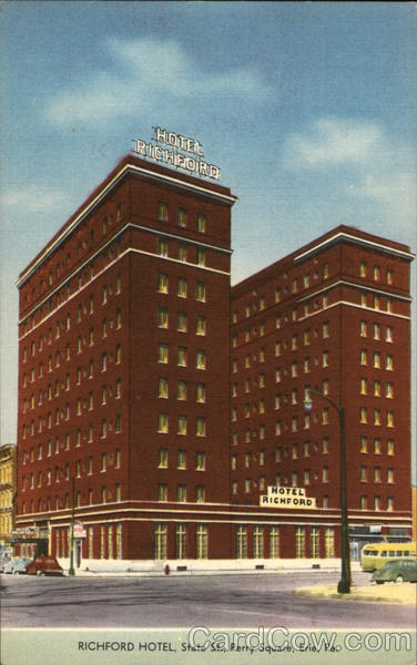 Richford Hotel, State St., Perry Square Erie Pennsylvania