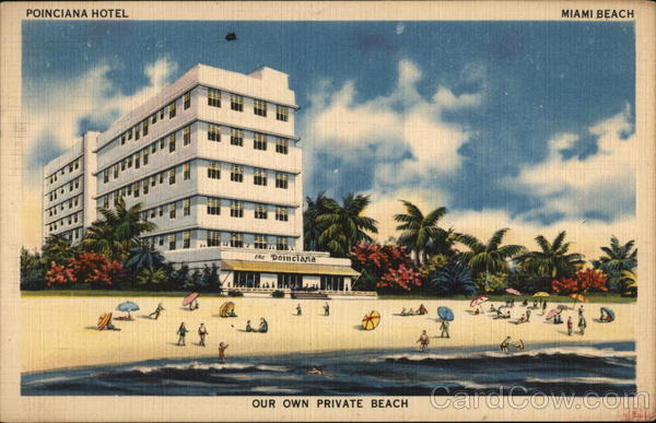 Poinciana Hotel Miami Beach Florida
