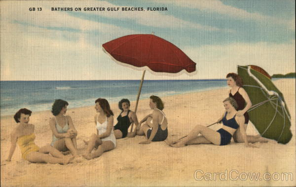 Bathers on Greater Gulf Beaches, Florida Women