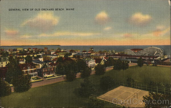 General View of Town Old Orchard Beach Maine