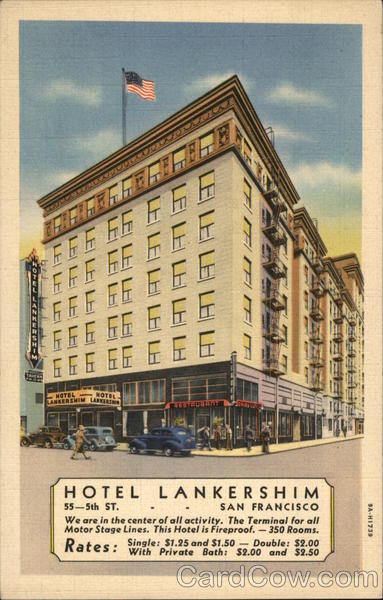Hotel Lankershim San Francisco California