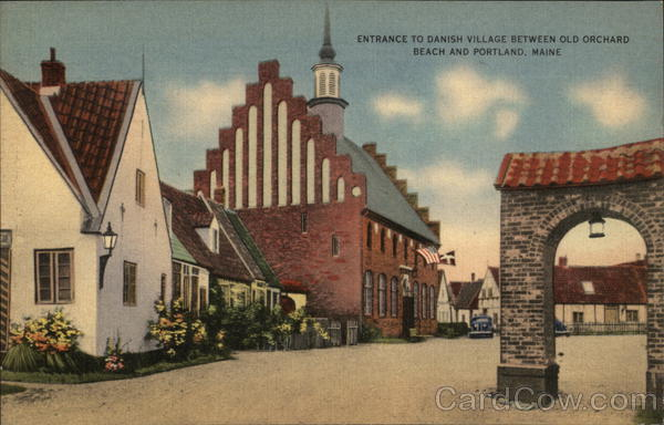 Entrance to Danish Village Old Orchard Beach Maine