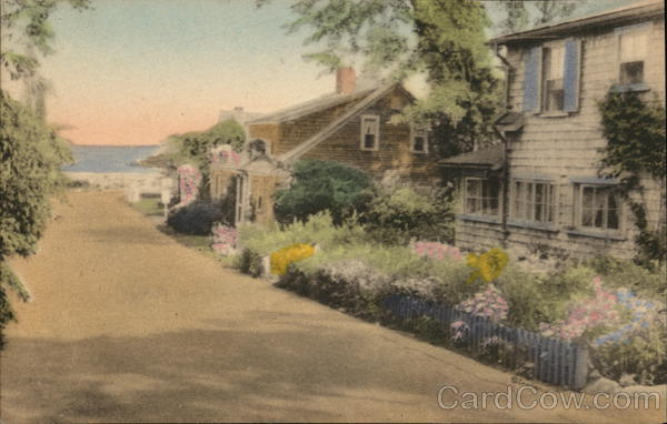 Oar-Weed Lane and Oldest House Ogunquit Maine
