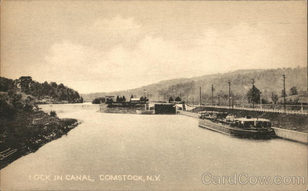 Lock in Canal Comstock New York