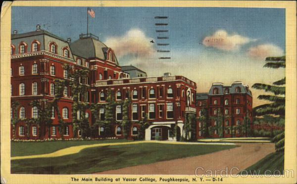 The Main Building of Vassar College Poughkeepsie New York