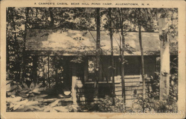 A Camper's Cabin, Bear Hill Pond Camp Allenstown New Hampshire
