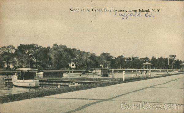 Scene at the Canal, Brightwaters Long Island New York