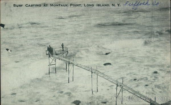 Surf Casting at Montauk Point Long Island New York