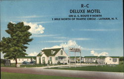 R-C Deluxe Motel On US Rt 9 North 1 mile N of Traffic Circle Postcard