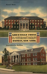 Greetings from U. S. Veterans' Facility - Nurses' Home, Administration Building