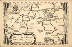 Map of White Mountains, NH