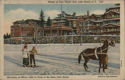Ski-Joring On Mirror Lake In Front Of Main Club House