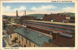 The Crystal City - Corning Glass Works Postcard