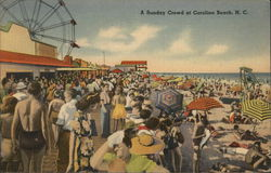 Sunday Crowd Postcard