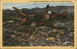 Lockheed Hudson Bomber in Flight Over Southern California