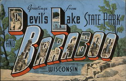Greetings from Devil's Lake State Park Postcard