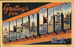 Greetings from Ocean City Postcard