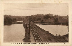 L. & H. R. R. Along Lake Grinnell