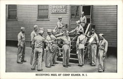 Receiving mail at camp Kilmer