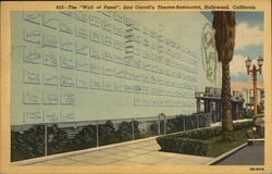The Wall of Fame, Earl Carroll's Theatre-Restaurant
