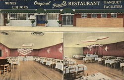 Original Paul's Restaurant - One View of Front, Two of Interior
