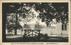 View of Lake Bomoseen from Trakenseen Cottages Postcard