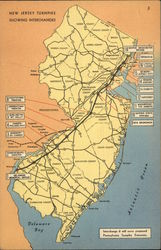 Map of New Jersey Turnpike