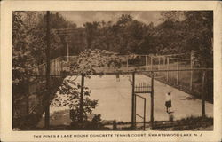 The Pines & Lake House Concrete Tennis Court