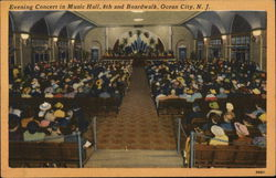 Evening Concert in Music Hall Postcard