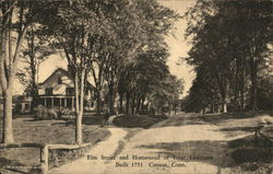 Elm Street and Homestead of Isaac Lawrence