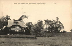 Horse, Toy Town Tavern Postcard