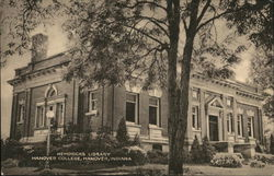 Hendricks Library at Hanover College Postcard